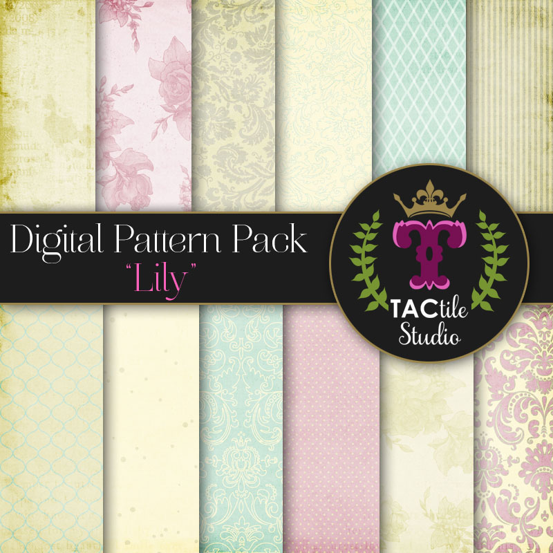 Lily Digital Paper Pack