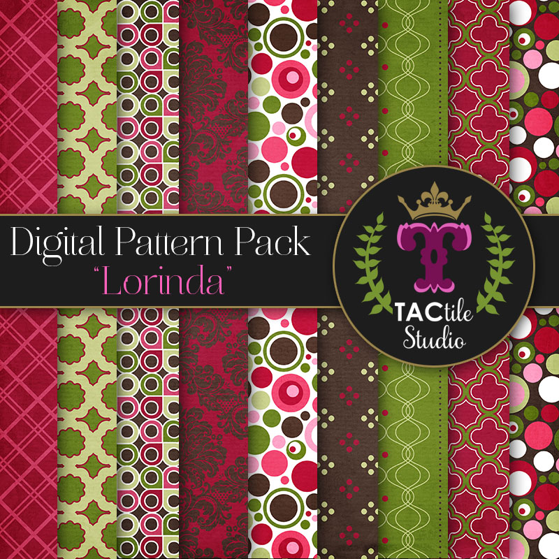 Lorinda Digital Paper Pack