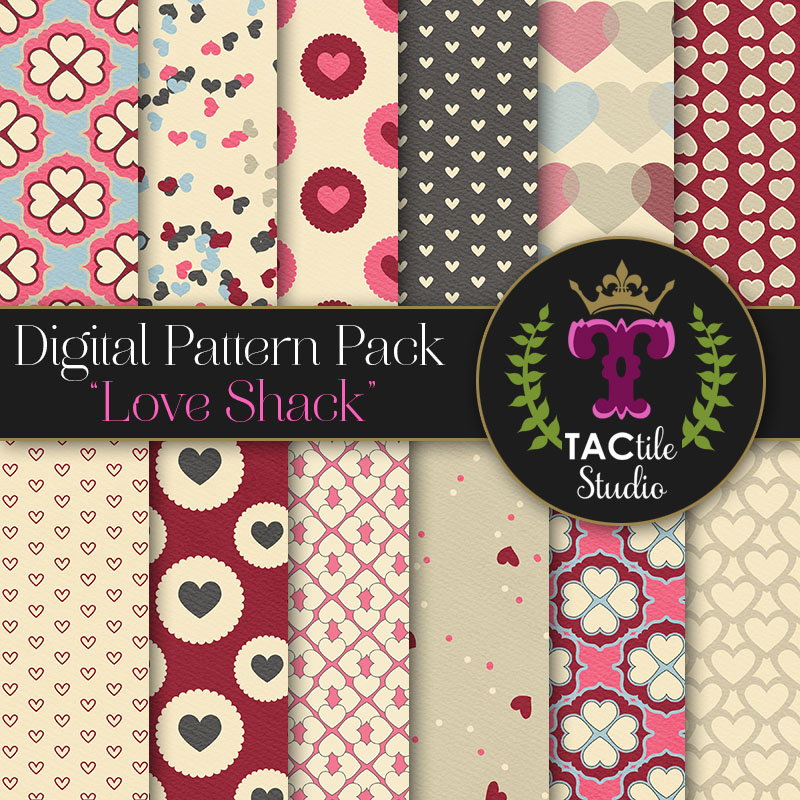 Love Shack Digital Paper Pack
