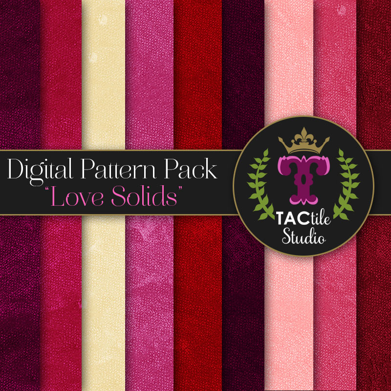 Love Solids Digital Paper Pack
