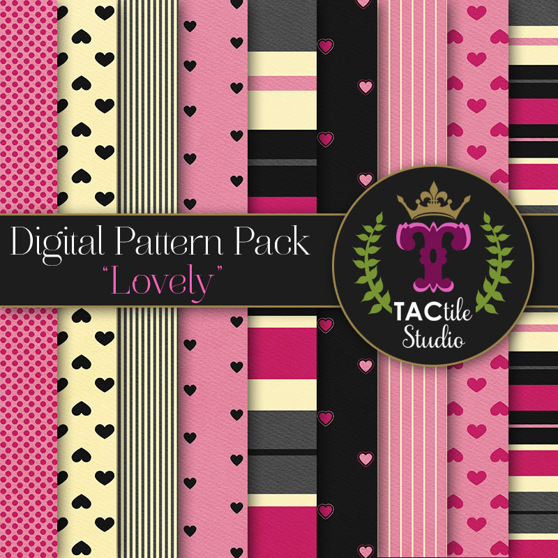 Lovely Digital Paper Pack