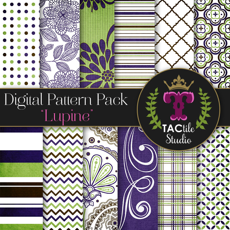 Lupine Digital Paper Pack