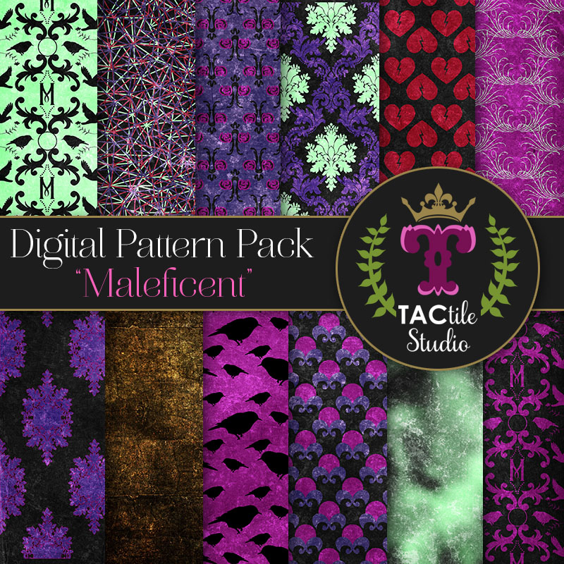 Maleficent Digital Paper Pack