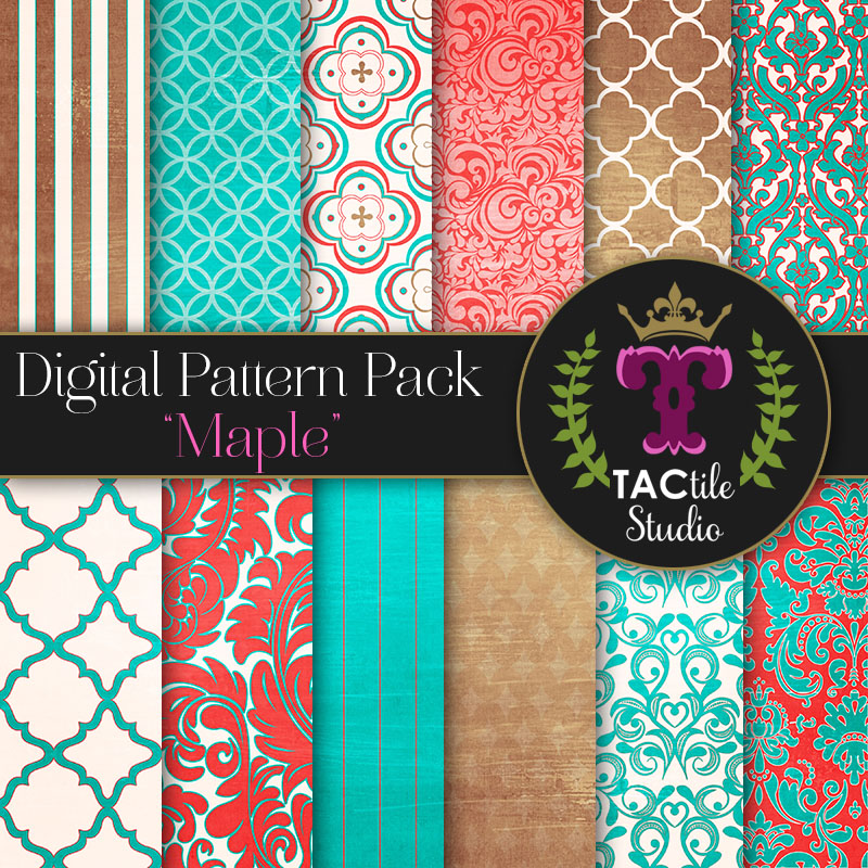 Maple Digital Paper Pack