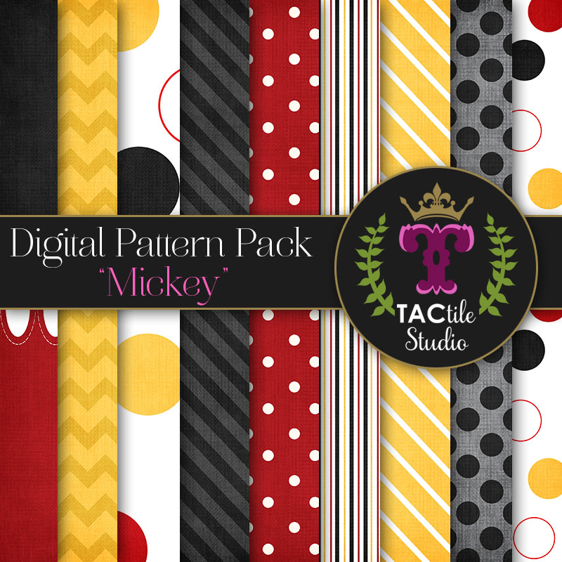 Mickey Digital Paper Pack