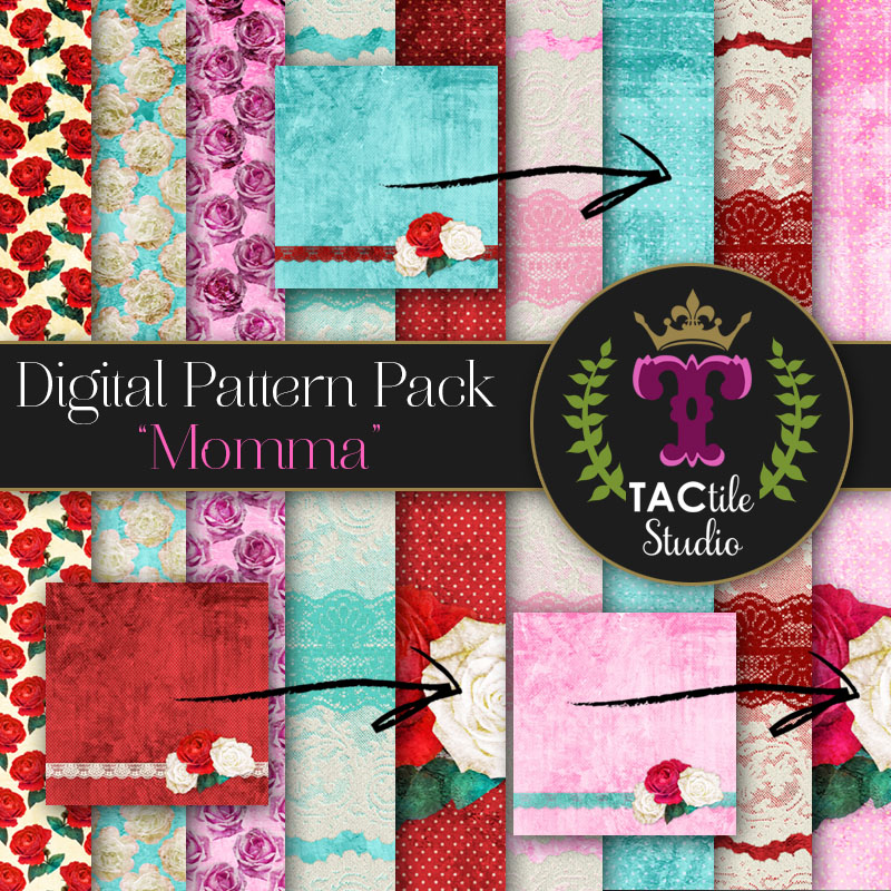 Momma Digital Paper Pack