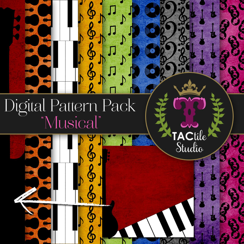 Musical Digital Paper Pack