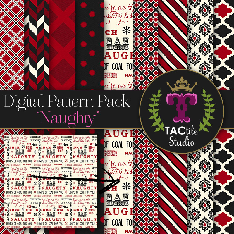 Naughty Digital Paper Pack