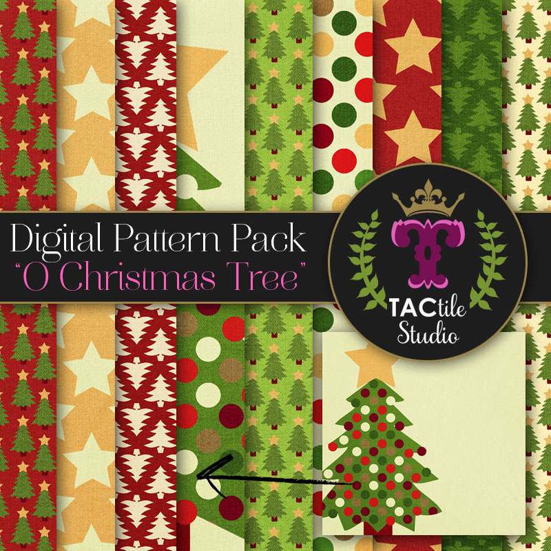 O Christmas Tree Digital Paper Pack
