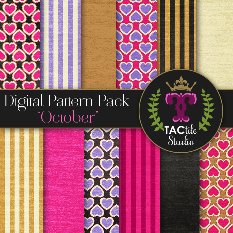 October Digital Paper Pack