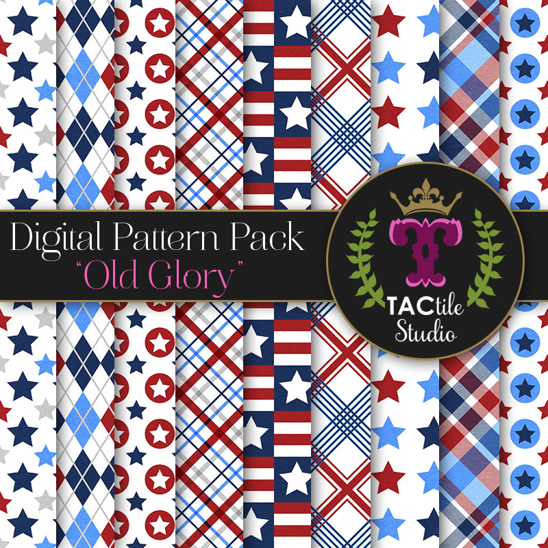Old Glory Digital Paper Pack