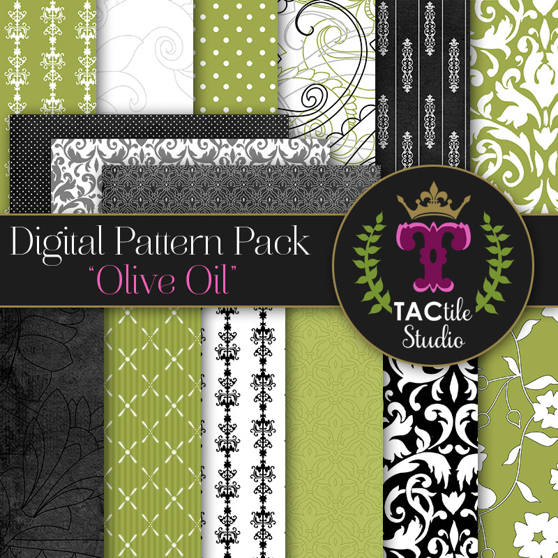 Olive Oil Digital Paper Pack