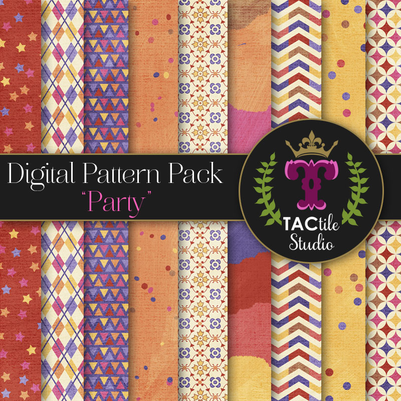 Party Digital Paper Pack