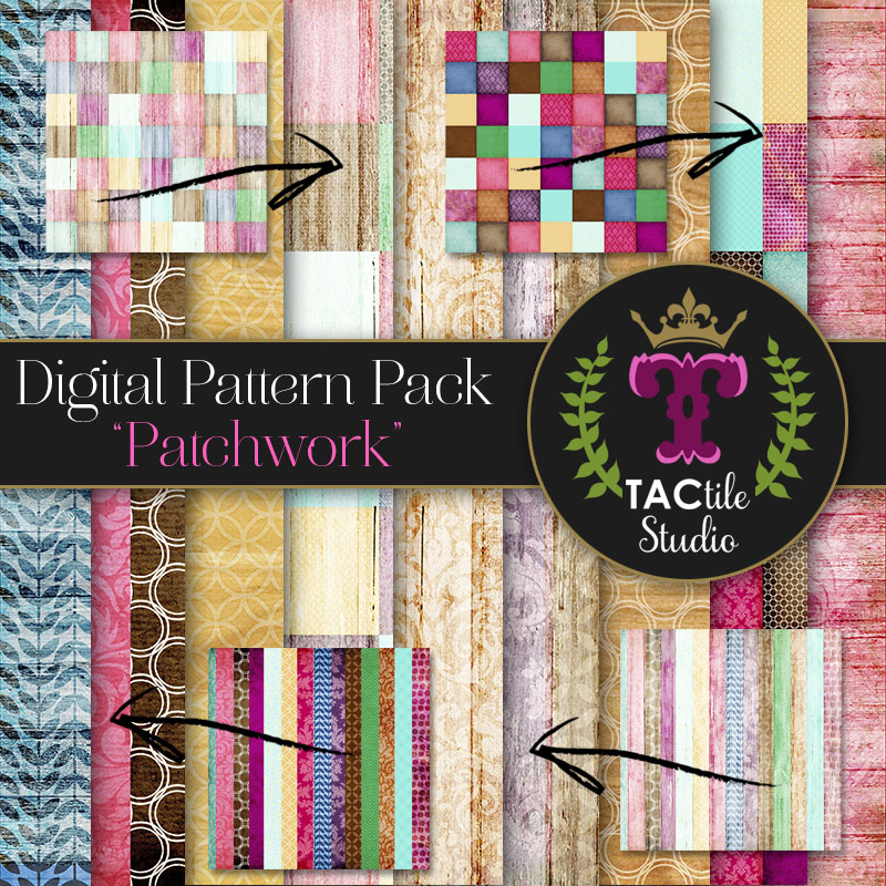 Patchwork Digital Paper Pack