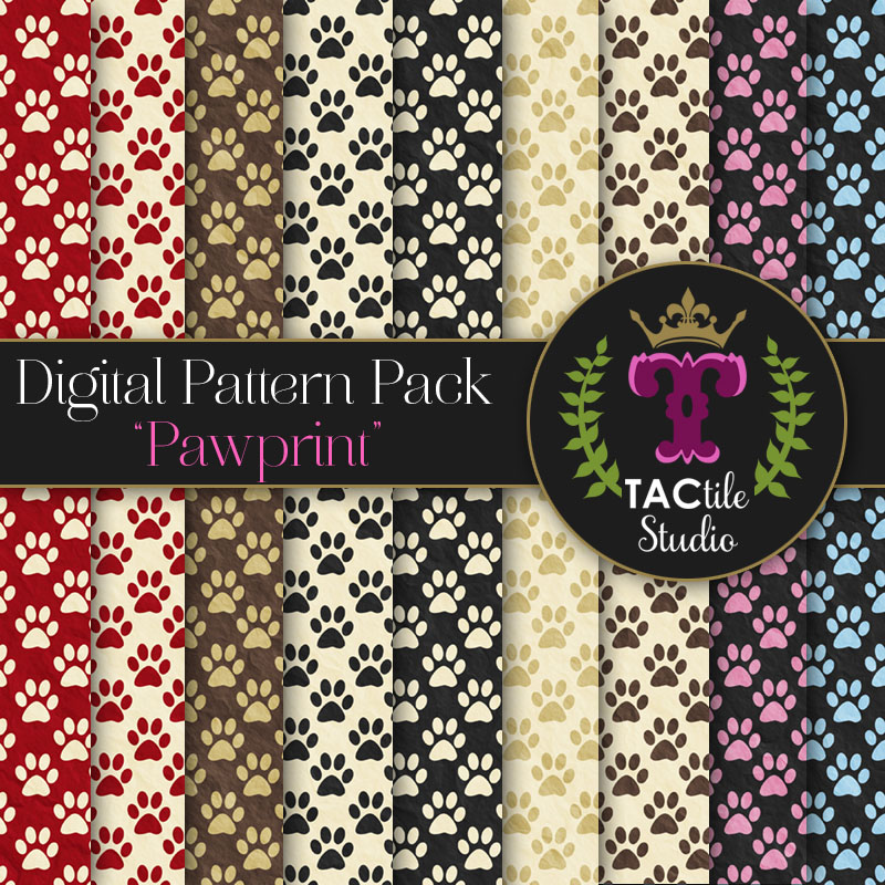 Pawprint Digital Paper Pack