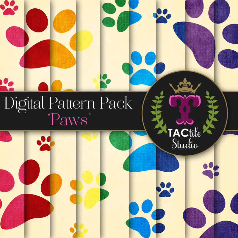 Paws Digital Paper Pack