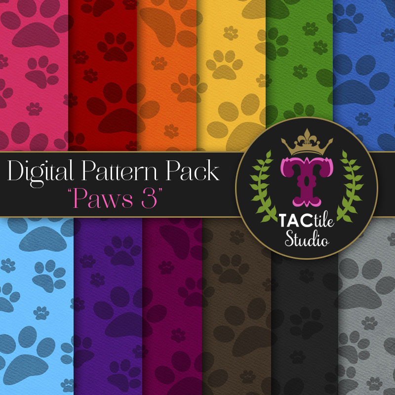 Paws 3 Digital Paper Pack