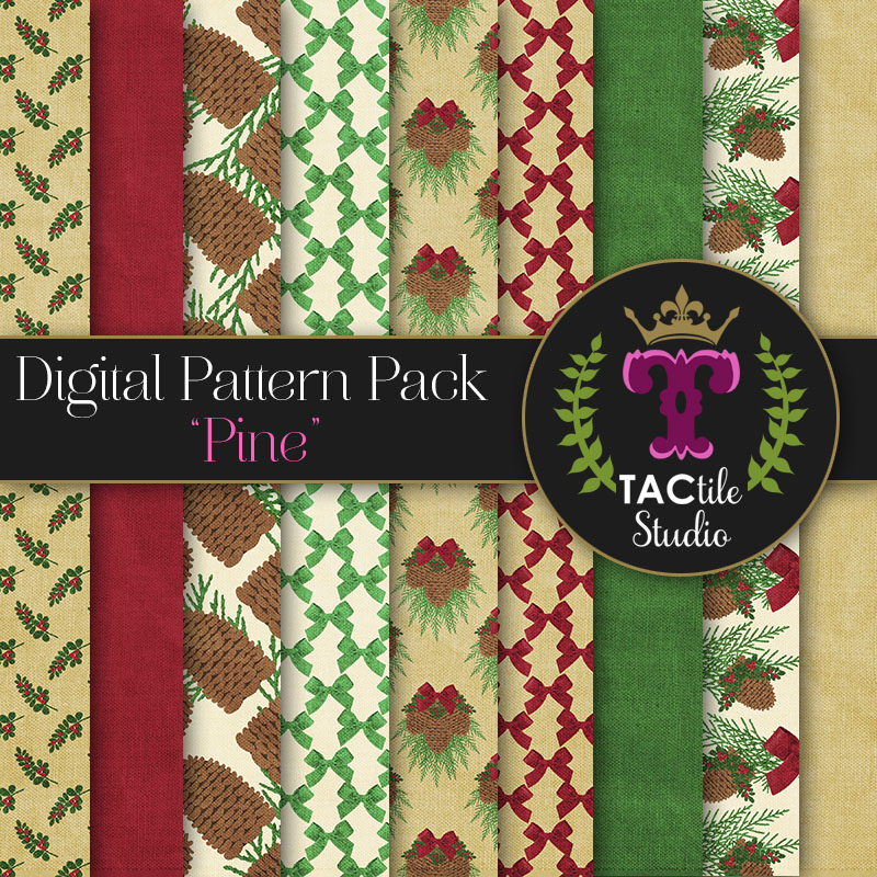 Pine Digital Paper Pack
