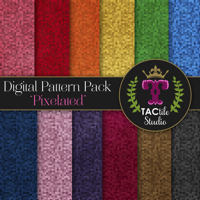Pixelated Digital Paper Pack