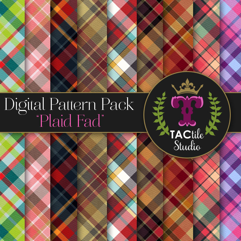 Plaid Fad Digital Paper Pack