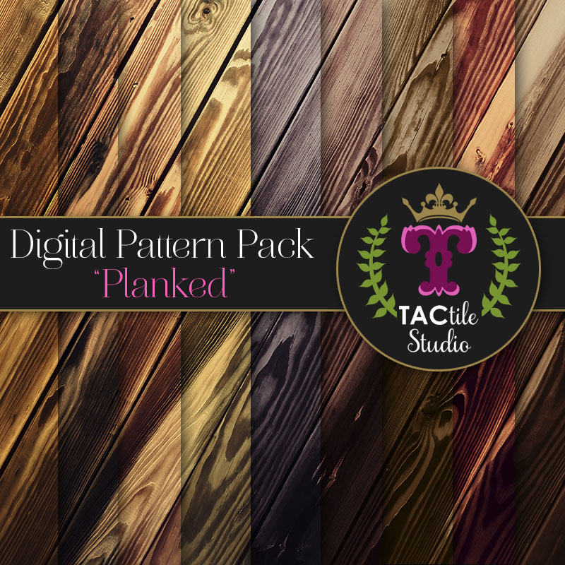 Planked Digital Paper Pack