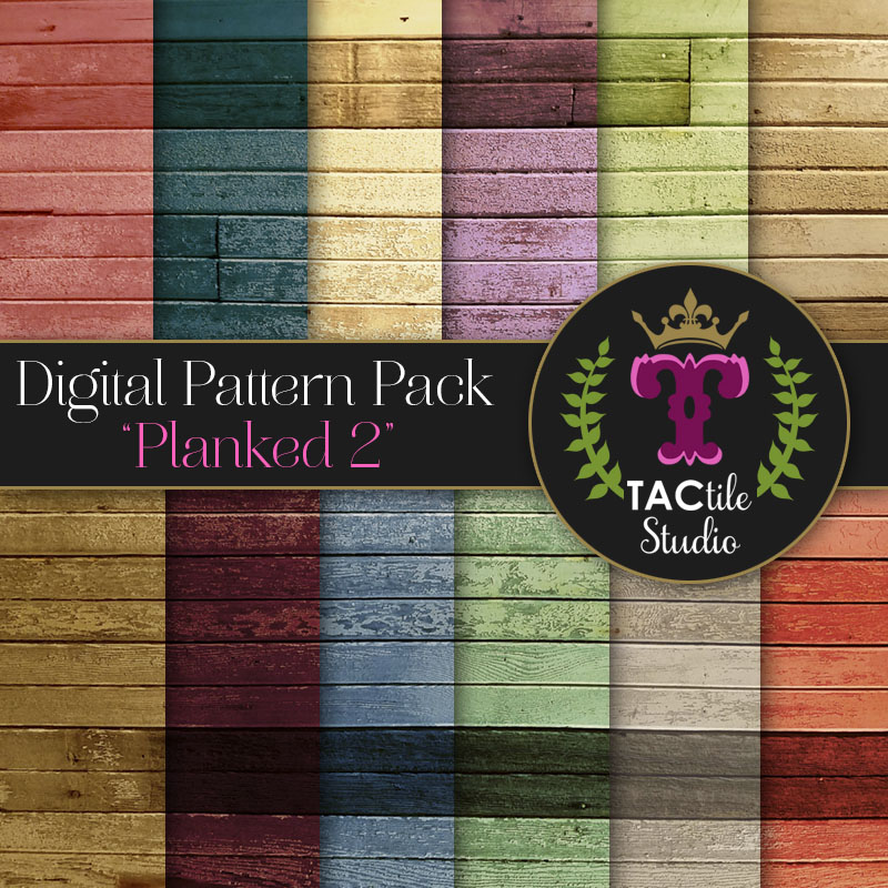 Planked 2 Digital Paper Pack