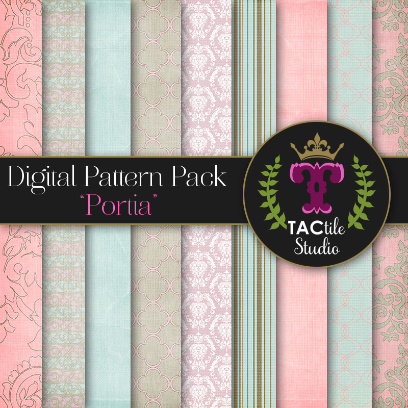 Portia Digital Paper Pack