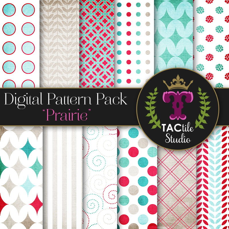 Prairie Digital Paper Pack