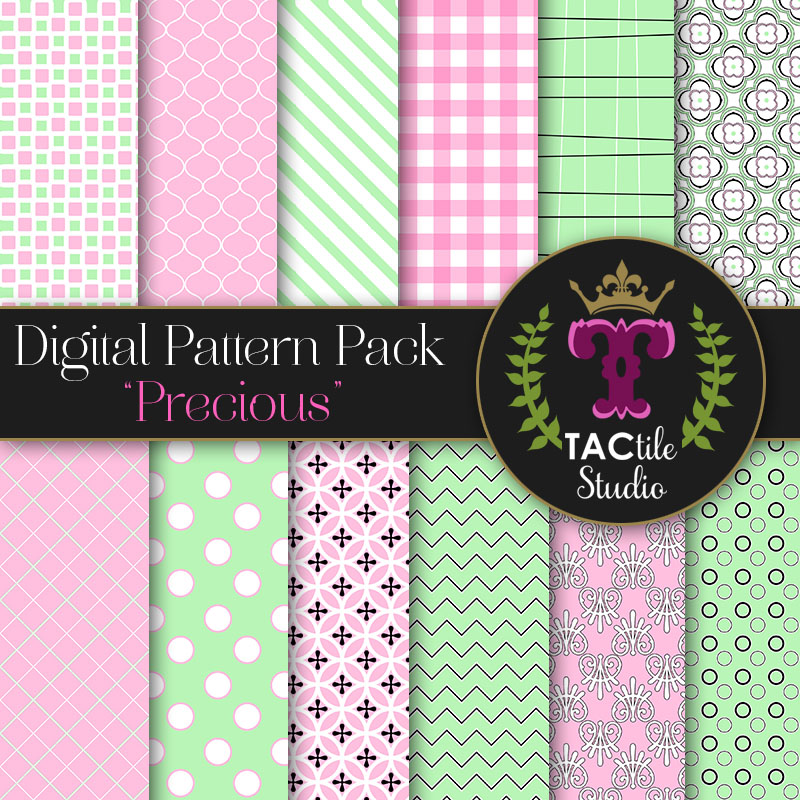 Precious Digital Paper Pack