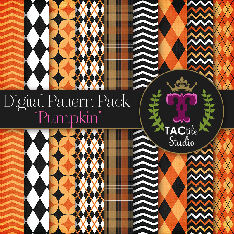 Pumpkin Digital Paper Pack