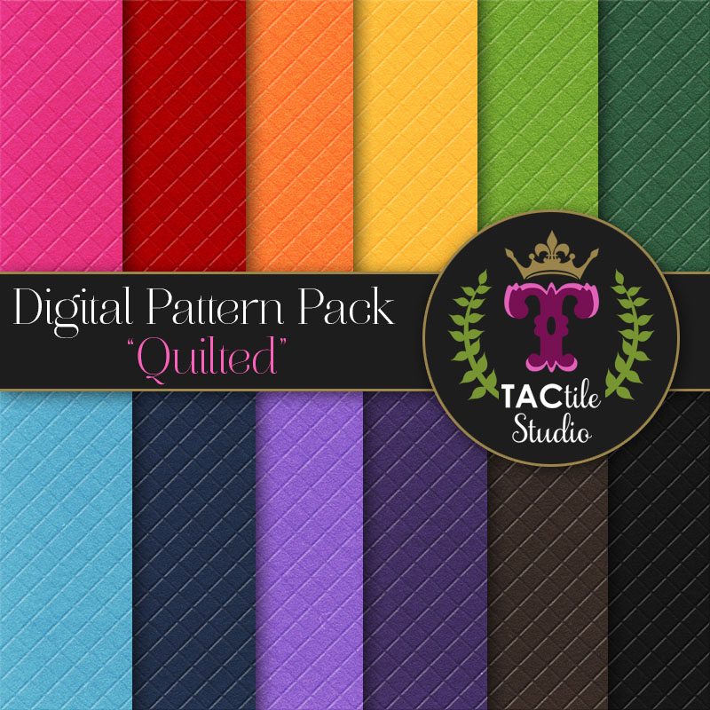 Quilted Digital Paper Pack