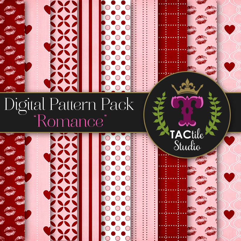 Romance Digital Paper Pack