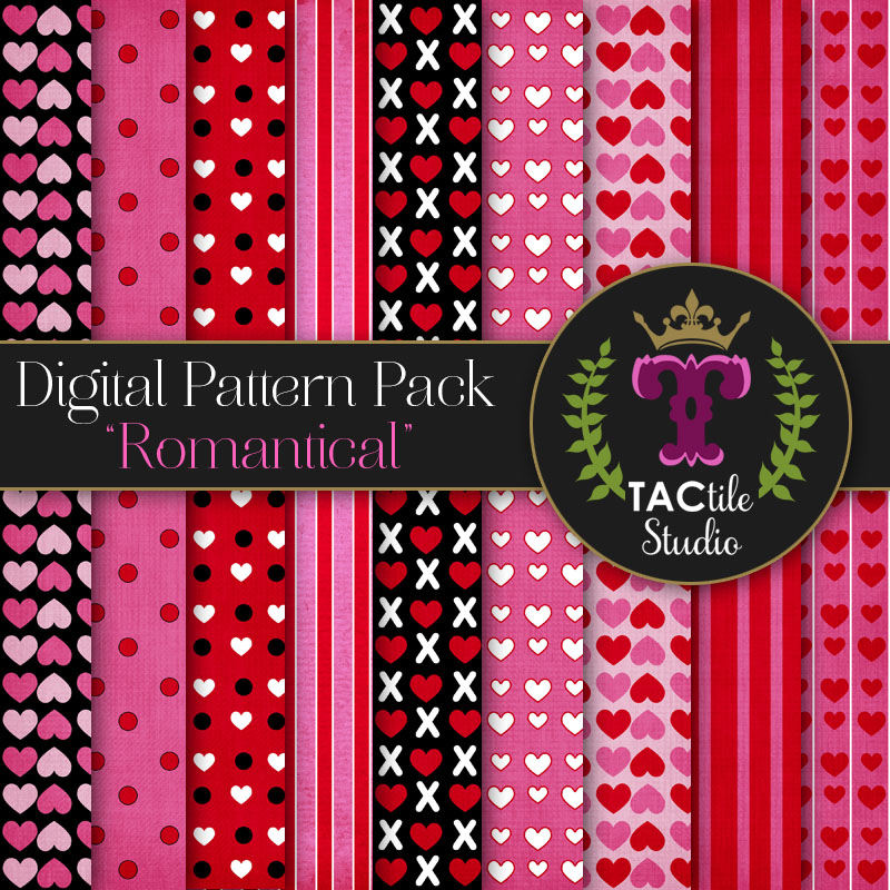 Romantical Digital Paper Pack