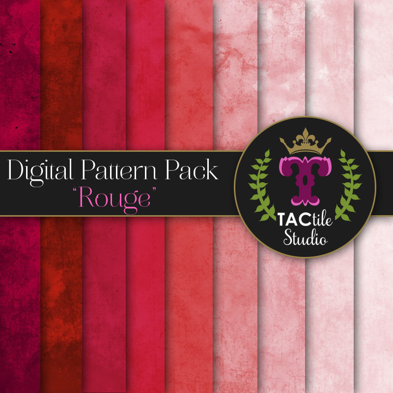 Rouge Digital Paper Pack