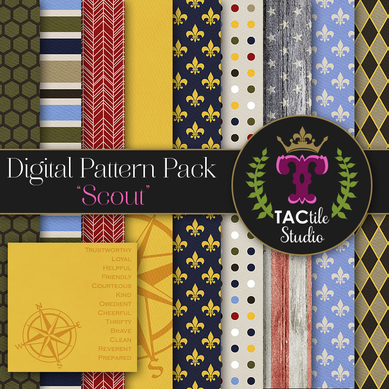 Scout Digital Paper Pack