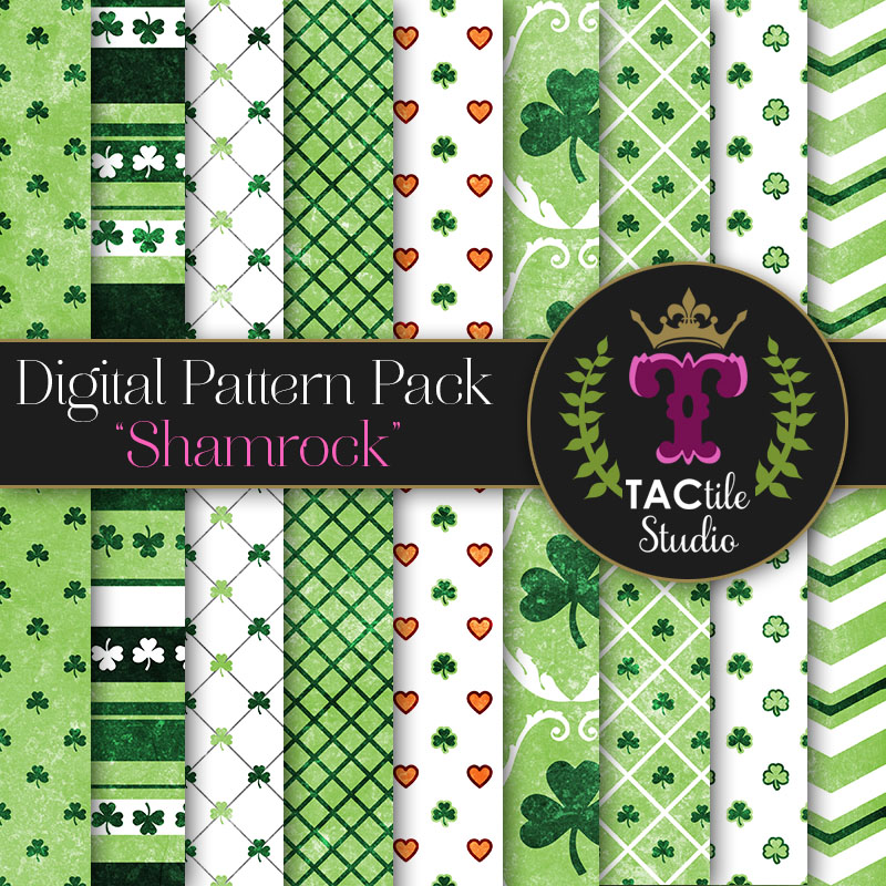 Shamrock Digital Paper Pack