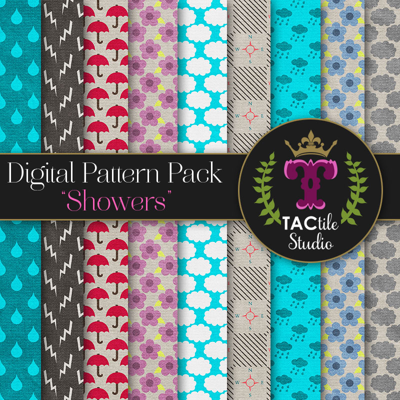 Showers Digital Paper Pack