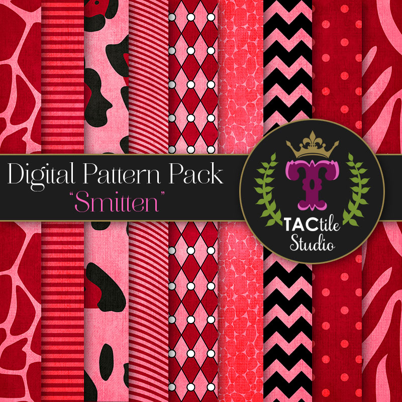 Smitten Digital Paper Pack