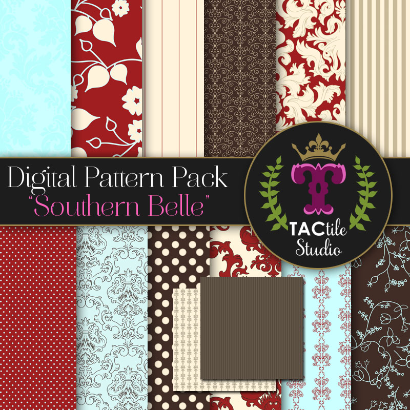 Southern Belle Digital Paper Pack