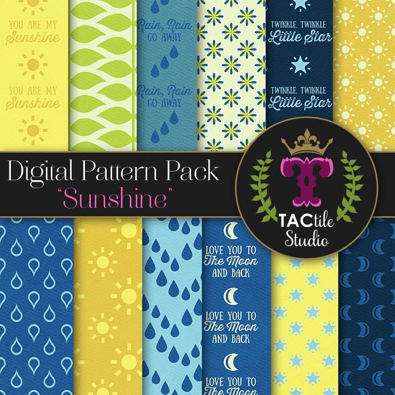 Sunshine Digital Paper Pack