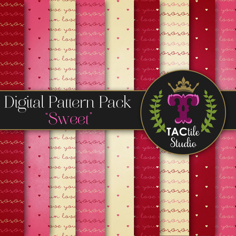 Sweet Digital Paper Pack