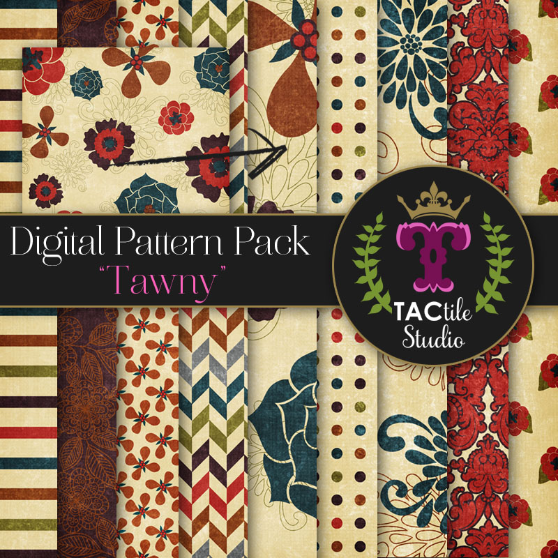 Tawny Digital Paper Pack