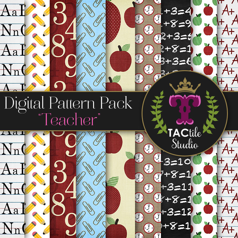 Teacher Digital Paper Pack