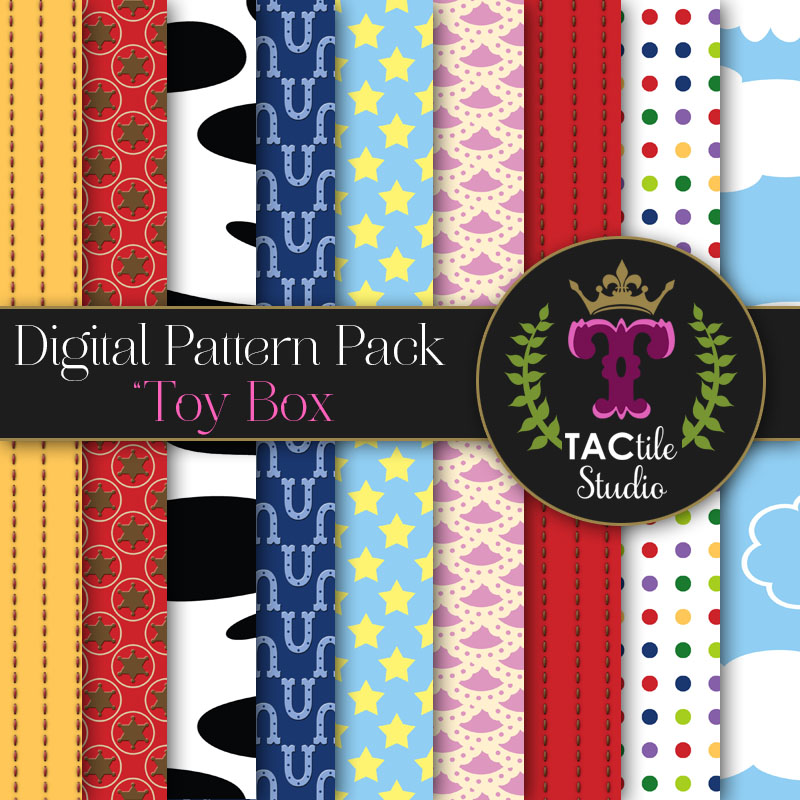 Toy Box Digital Paper Pack