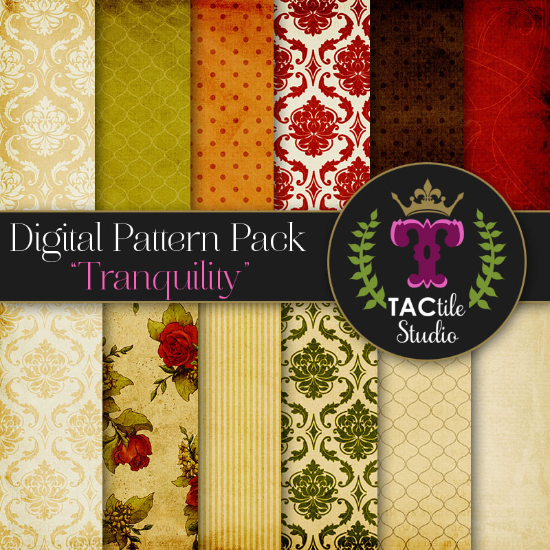 Tranquility Digital Paper Pack