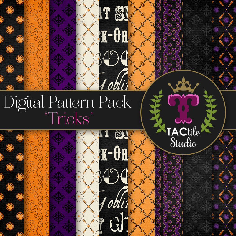 Tricks Digital Paper Pack