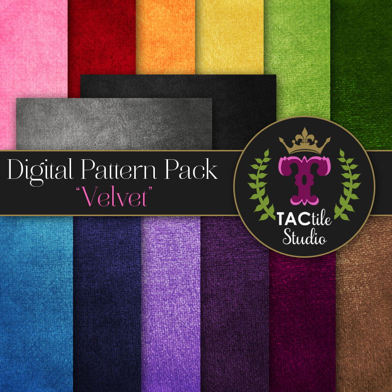 Velvet Digital Paper Pack