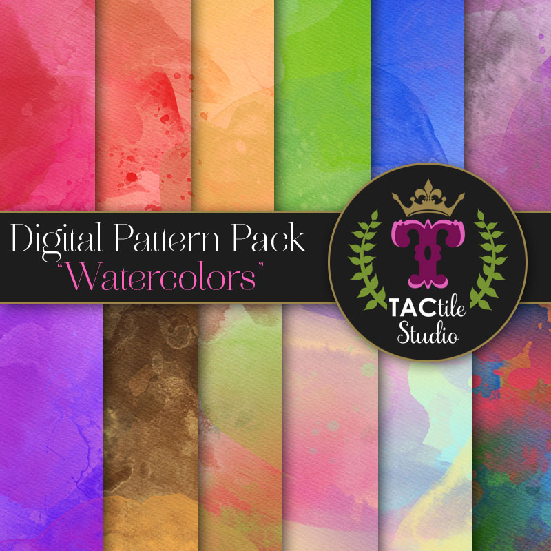 Watercolors Digital Paper Pack