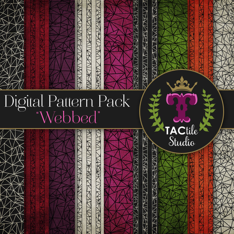 Webbed Digital Paper Pack