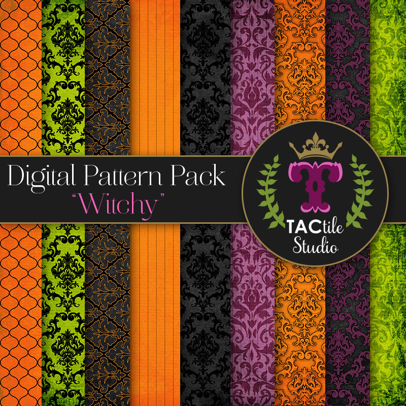 Witchy Digital Paper Pack